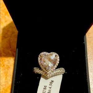 Lajerrio heart shaped CZ ring simply stunning